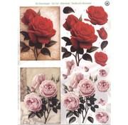 Bilder, 3D Bilder und ausgestanzte Teile usw... fogli A4: Roses