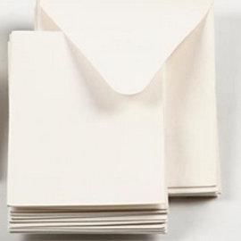 KARTEN und Zubehör / Cards 5 mini cartes + 5 enveloppes écrues, format 7.5x10.5 cm