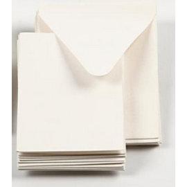 KARTEN und Zubehör / Cards 5 Mini Karten + 5 Umschläge in wollweiss, Kartengröße 7,5x10,5 cm