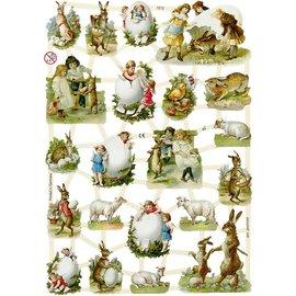 Bilder, 3D Bilder und ausgestanzte Teile usw... Glanzbilder mit 22 hübsche Ostermotiven
