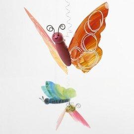 Objekten zum Dekorieren / objects for decorating Butterfly Craft Set: 2 Butterfly Body + 4 vlindervleugels