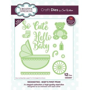 CREATIVE EXPRESSIONS und COUTURE CREATIONS cutting and embossing Stencils: Baby