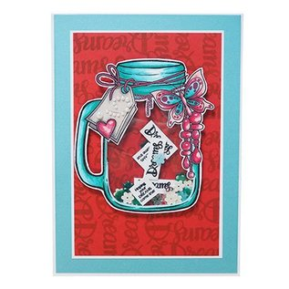 CREATIVE EXPRESSIONS und COUTURE CREATIONS A5 Stamp Trasparente: Jar of Dreams
