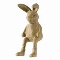 PappArt figurine, hare edge stool, size: 7.5 x 19 x 14.5 cm