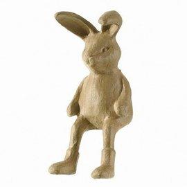 Objekten zum Dekorieren / objects for decorating PappArt figurine, hare edge stool, size: 7.5 x 19 x 14.5 cm