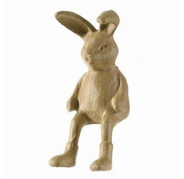Objekten zum Dekorieren / objects for decorating PappArt figur hare Kantenhocker, størrelse: 7,5 x 19 x 14,5 cm