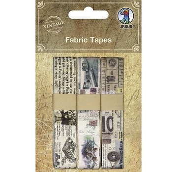 Designer Papier Scrapbooking: 30,5 x 30,5 cm Papier Scrapbooking Vintage Fabric Tapes, Selbstklebend, 3 diverse Motive