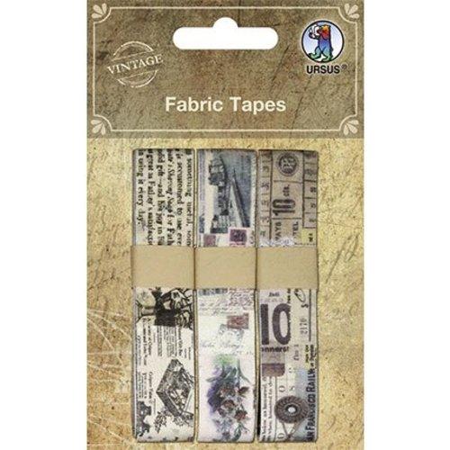 Designer Papier Scrapbooking: 30,5 x 30,5 cm Papier Scrapbooking Vintage Fabric Tapes, Self-adhesive, 3 different motives
