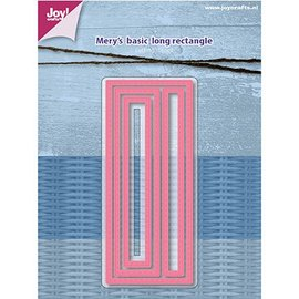 Joy!Crafts / Jeanine´s Art, Hobby Solutions Dies /  Joy Crafts, cutting and Embossing template: Mery's Basic - Long rectangle