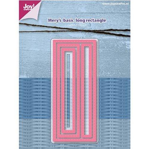 Joy!Crafts / Jeanine´s Art, Hobby Solutions Dies /  Joy Crafts, Stanzschablone: Mery's Basic, Lange rechtecke mit Stitchlinien