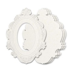 Allbum Chipboard, 5 decorative frames, size approx. 23 x 17 cm + 2 book rings Approx. 5cm - LAST available