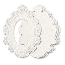 Holz, MDF, Pappe, Objekten zum Dekorieren Allbum Chipboard, 5 cadres décoratifs, taille environ 23 x 17 cm + 2 anneaux de lecture Env. 5cm - dernier disponible