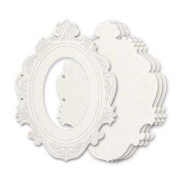 Holz, MDF, Pappe, Objekten zum Dekorieren Truciolato di album, 5 cornici decorative, dimensioni circa 23 x 17 cm + 2 anelli di libro ca. 5 cm - ULTIMO disponibile