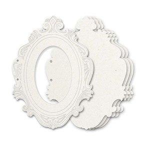 Holz, MDF, Pappe, Objekten zum Dekorieren Allbum Chipboard, 5 decorative frames, size approx. 23 x 17 cm + 2 book rings Approx. 5cm - LAST available