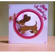 Marianne Design Punching and embossing template, dog - back in stock!