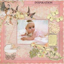 Kaisercraft und K&Company Sponplater motiver: Baby girl