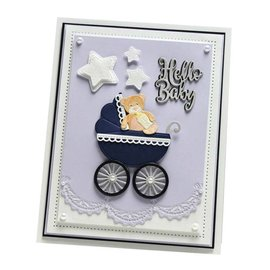 CREATIVE EXPRESSIONS und COUTURE CREATIONS skjæring og preging Stencils: Baby