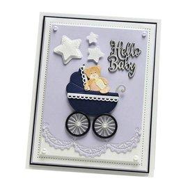 CREATIVE EXPRESSIONS und COUTURE CREATIONS Stencil di taglio e goffratura: Baby