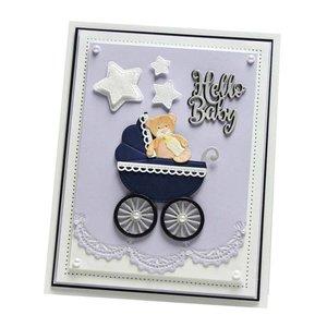 CREATIVE EXPRESSIONS und COUTURE CREATIONS découpage et gaufrage Stencils: Baby