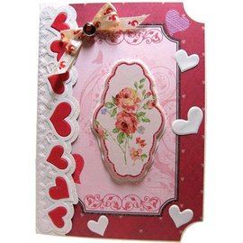 Joy!Crafts / Jeanine´s Art, Hobby Solutions Dies /  Cutting and embossing Template: Border with hearts