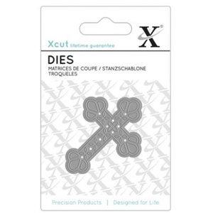 Docrafts / X-Cut Snij- en embossing Sjablonen: kruis, formaat 7 x 5 cm