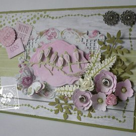 Joy!Crafts / Jeanine´s Art, Hobby Solutions Dies /  Troquelado y estampado plantilla Joy manualidades, hojas