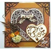 Joy!Crafts / Jeanine´s Art, Hobby Solutions Dies /  Skæring og prægning Skabelon: Hjerter