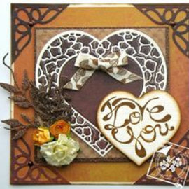 Joy!Crafts / Jeanine´s Art, Hobby Solutions Dies /  Coupe et gaufrage Modèle: Coeurs