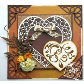 Joy!Crafts / Jeanine´s Art, Hobby Solutions Dies /  Cutting and embossing Template: Hearts