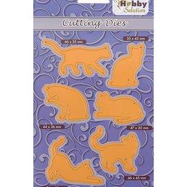 Marianne Design Plantilla de corte y estampado: 6 Pussycats