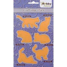 Marianne Design Skjære og Embossing mal: 6 Pussycats