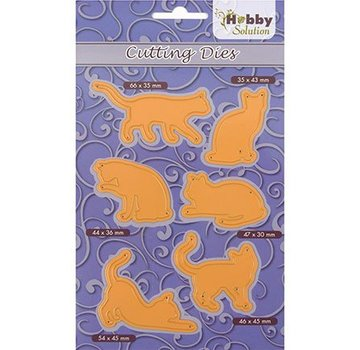 Marianne Design skæring og prægning skabelon: 6 pussycats