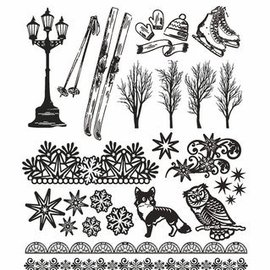 AMY DESIGN AMY DESIGN, Sello transparente: naturaleza, con 24 magníficos sellos
