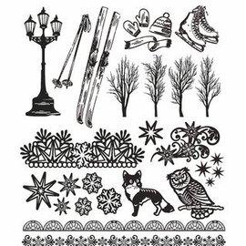 AMY DESIGN AMY DESIGN, Transparant stempel: de natuur, met 24 prachtige stempels