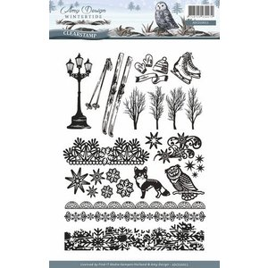 AMY DESIGN AMY DESIGN, Transparent stamp: nature, with 24 magnificent stamps
