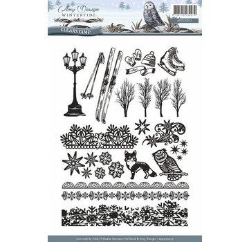 AMY DESIGN AMY DESIGN, Transparent frimærke: natur, med 24 storslåede frimærker