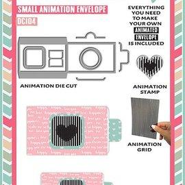 Uchi's Design Animatie ponsen jig SET: Small animation Envelope