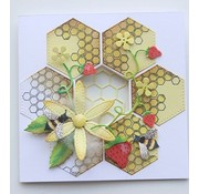 Joy!Crafts / Jeanine´s Art, Hobby Solutions Dies /  Cutting and embossing Template + stamp: Honeycomb