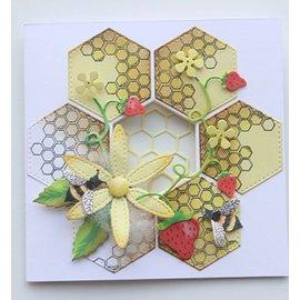 Joy!Crafts / Jeanine´s Art, Hobby Solutions Dies /  Snij en embossing sjabloon + Stempel: Mery's Honingraat