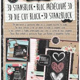 "BASTELSETS / CRAFT KITS Studio Light 3D Stanzbogen-Block ""Chalk"" - nur noch 1 vorrätig!"