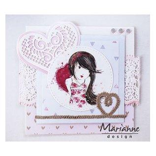 Marianne Design modello di taglio e goffratura: bordo in pizzo a filigrana