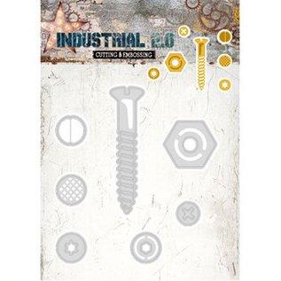 Studio Light Snij en embossing sjabloon: Industrial