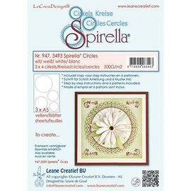 Leane Creatief - Lea'bilities und By Lene Stanzbogen, 12 circles, 4 sizes, instructions and 6 patterns