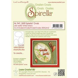 Leane Creatief - Lea'bilities und By Lene 12 Ovale, 4 sizes, instructions and 6 patterns