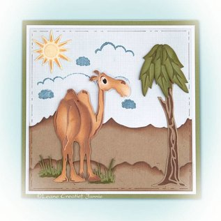 Leane Creatief - Lea'bilities und By Lene Punching and embossing template: Camel