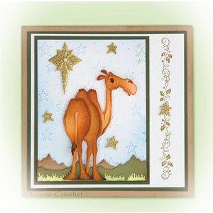 Leane Creatief - Lea'bilities und By Lene Ponsen en embossing sjabloon: Camel