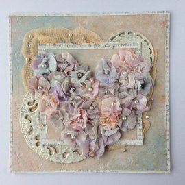 Leane Creatief - Lea'bilities und By Lene Cutting dies: flowers with leaves