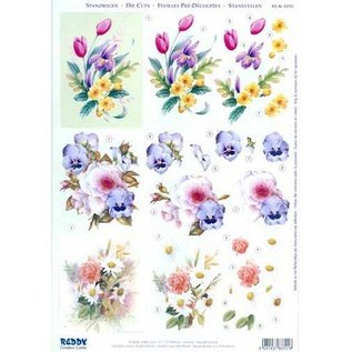 Bilder, 3D Bilder und ausgestanzte Teile usw... A4 vellen: boeketten van de bloem
