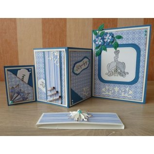 "Nellie Snellen cutting and embossing Stencils: Multi Frame ""straight dotted square"" max. 10,2"