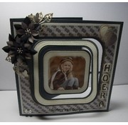 """Nellie Snellen cutting and embossing Stencils: Multi Frame straight dotted square"""" max. 10,2"""